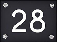 Hausnummer Schild 28 aus Acryl, Hausnummernschild