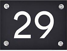 Hausnummer Schild 29 aus Acryl, Hausnummernschild