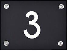 Hausnummer Schild 3 aus Acryl, Hausnummernschild