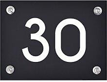 Hausnummer Schild 30 aus Acryl, Hausnummernschild