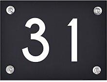 Hausnummer Schild 31 aus Acryl, Hausnummernschild