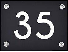 Hausnummer Schild 35 aus Acryl, Hausnummernschild