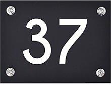 Hausnummer Schild 37 aus Acryl, Hausnummernschild