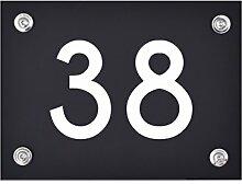 Hausnummer Schild 38 aus Acryl, Hausnummernschild