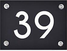 Hausnummer Schild 39 aus Acryl, Hausnummernschild