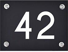 Hausnummer Schild 42 aus Acryl, Hausnummernschild