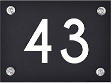 Hausnummer Schild 43 aus Acryl, Hausnummernschild