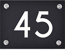 Hausnummer Schild 45 aus Acryl, Hausnummernschild