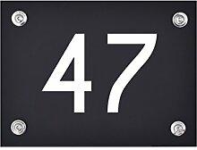 Hausnummer Schild 47 aus Acryl, Hausnummernschild