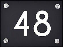 Hausnummer Schild 48 aus Acryl, Hausnummernschild