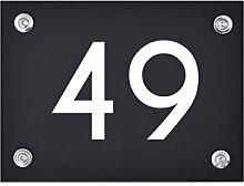 Hausnummer Schild 49 aus Acryl, Hausnummernschild