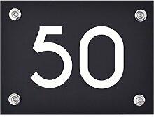 Hausnummer Schild 50 aus Acryl, Hausnummernschild