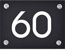 Hausnummer Schild 60 aus Acryl, Hausnummernschild