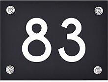 Hausnummer Schild 83 aus Acryl, Hausnummernschild