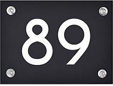 Hausnummer Schild 89 aus Acryl, Hausnummernschild