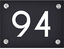 Hausnummer Schild 94 aus Acryl, Hausnummernschild