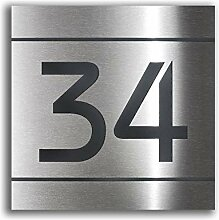 Hausnummer-Schild Anthrazit Edelstahl Design