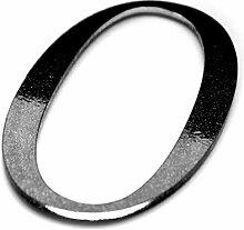 Hausnummer Selbstklebend Schwarz - NULL - Ziffer