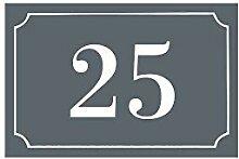 Hausnummer/Straße, graviert und personalisierbar,