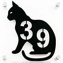 Hausnummer Tierfreunde Katze - Türnummer - Nummer