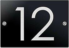 Hausnummer Türschild mit Gravur aus