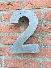 Hausnummer von Beton Nr.2 20cm hoch, Versand
