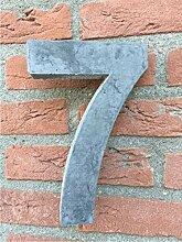Hausnummer von Beton Nr.7 20cm hoch, Versand