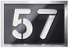 Hausnummer zweistellig - aus Edelstahl und