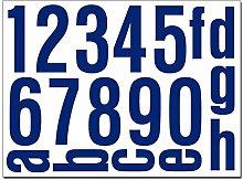 Hausnummern Aufkleber Folien Set Nummern und