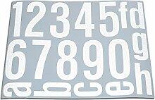 Hausnummern Aufkleber Folien Set Nummern, Ziffern