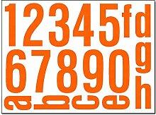 Hausnummern Aufkleber - Set mit Nummern, Ziffern &