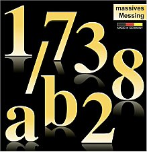 Hausnummern aus massivem Messing 170mm Höhe Times