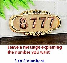 Hausnummern Zum Aufkleben Abs Imitation Metall