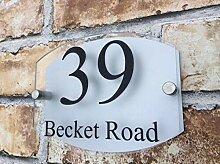 Hausnummern Zum Aufkleben Moderne Hausnummer