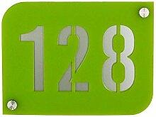 Hausnummernschild Hausnummernschild grün mit