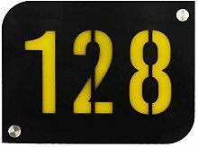 Hausnummernschild/Hausnummernschild schwarz mit