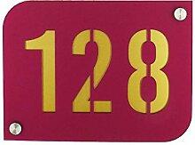 Hausnummernschild Hausnummernschild Violett mit