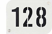 Hausnummernschild Hausnummernschild weiß mit
