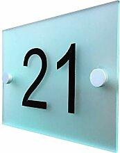 Hausschild Moderne Milchglas Acryl Hausnummer