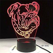 Haustier Hund Lampe Bullterrier LED Nachtlicht