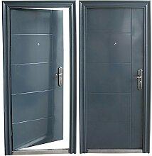 Haustür Tür Sicherheitstür Wohnungstür Haustüren 96x205cm ANTHRAZIT (DIN Rechts)
