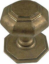 Haustürgriff im antiken Stil Türknauf Tor Tür Knopf schlicht acht Ecken Messing