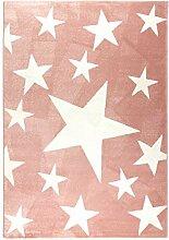 havatex Moderner Teppich Stars - Rosa oder Blau |