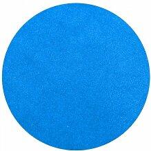 Havatex: Rasenteppich Kunstrasen mit Noppen blau rund / Pflegeleicht, Strapazierfähig und langlebig / In verschiedenen Größen erhältlich