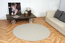 havatex: Schlingen Teppich Torronto beige rund / Geprüfte Qualität / Flormaterial: 100% Polypropylen / In verschiedenen Größen erhältlich, Größe Auswählen:300 cm rund