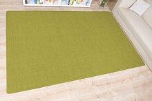 havatex: Sisal Teppich Trumpf Avocado / hypoallergene Naturfaser / schadstoffgeprüft pflegeleicht schmutzabweisend robust strapazierfähig / ideal für Wohnzimmer Schlafzimmer Kinderzimmer Flur , Größe Auswählen:60 x 120 cm
