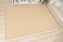 havatex: Sisal Teppich Trumpf Natur / hypoallergene Naturfaser / schadstoffgeprüft pflegeleicht schmutzabweisend robust strapazierfähig / ideal für Wohnzimmer Schlafzimmer Kinderzimmer Flur , Größe Auswählen:160 x 220 cm