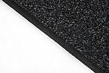 havatex: Teppich Läufer Frieze Athen Anthrazit / Geprüfte Qualität / Flormaterial 100% Polypropylen / In verschiedenen Größen erhältlich , Größe Auswählen:80 x 650 cm