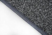 havatex: Teppich Läufer Frieze Athen Grau / Geprüfte Qualität / Flormaterial 100% Polypropylen / In verschiedenen Größen erhältlich , Größe Auswählen:100 x 450 cm