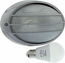 Havel -LED 10W - E27 - Aluminium -Alu wandstrahler